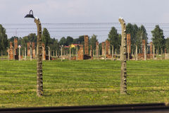 Auschwitz II -Birkenau Extermination camp outdoors Stock Image