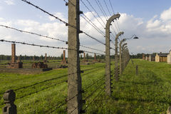 Auschwitz II -Birkenau Extermination camp outdoors Stock Images