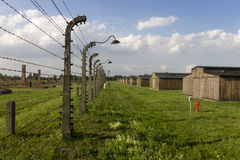 Auschwitz II -Birkenau Extermination camp outdoors Royalty Free Stock Image