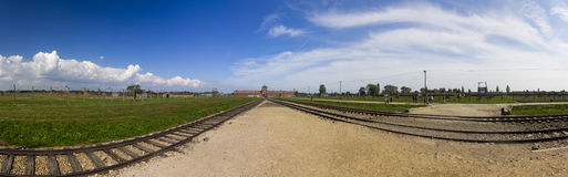 Auschwitz II -Birkenau Extermination camp panorama Royalty Free Stock Photos