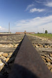 Auschwitz II -Birkenau Extermination camp railroad Royalty Free Stock Photography
