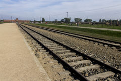 Auschwitz II -Birkenau Extermination camp train platform Royalty Free Stock Photo