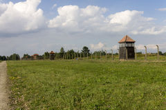 Auschwitz II -Birkenau guard towers Stock Image