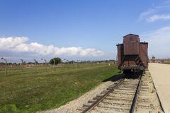 Auschwitz II -Birkenau - historic train carriage Stock Photography