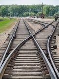 Auschwitz II Birkenau, Polska, Listopad 4, 2014 - Niemiecka Nazistowska koncentracja i eksterminacja obozujemy obraz royalty free