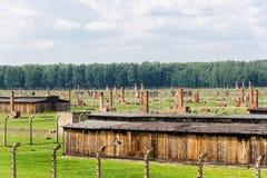 Auschwitz II - Birkenau Sector II. Auschwitz II - Birkenau, Sector II as viewed from the Gate of Death watch tower Stock Image