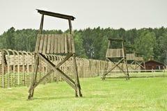 Auschwitz II-Birkenau, um acampamento anterior da exterminação imagem de stock