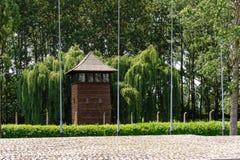 Auschwitz II - Birkenau watch tower Stock Images