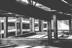 Auschwitz II - Birkenau wooden barracks interior Stock Images