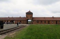 Auschwitz II drevstation Royaltyfri Bild