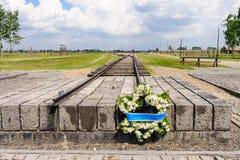 Auschwitz II - guirnalda de Birkenau Fotografía de archivo libre de regalías