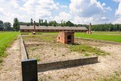 Auschwitz II - Ruinen Birkenau-Sektors II Stockfotos