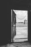 Auschwitz II - torre del reloj de Birkenau Foto de archivo libre de regalías