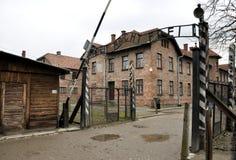 Auschwitz ingång 1 Fotografering för Bildbyråer