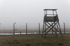 auschwitz Koncentracyjny obóz Śmiertelny koszary Żydowski eksterminacja obóz Niemiecki śmiertelny obóz w OÅ› wiÄ™cim abstrakcjoni obrazy stock