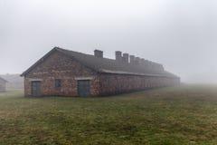 auschwitz Koncentracyjny obóz Śmiertelny koszary Żydowski eksterminacja obóz Niemiecki śmiertelny obóz w Oswiecim zdjęcia stock