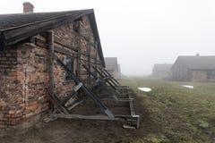 auschwitz Koncentracyjny obóz Śmiertelny koszary Żydowski eksterminacja obóz Niemiecki śmiertelny obóz w Oswiecim, Polska zdjęcie stock