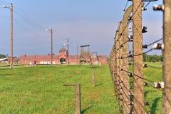 Auschwitz koncentrationsläger royaltyfria bilder