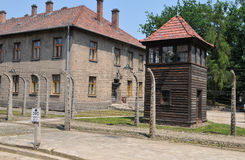 Auschwitz koncentrationsläger Royaltyfri Bild