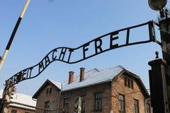 Auschwitz koncentrationsläger Royaltyfria Foton