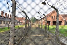 Auschwitz-Konzentrationslager war ein Netz der Konzentration und Ausrottunglager bauten auf und funktionierten durch das Drittes  Stockbild