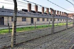 Auschwitz-Konzentrationslager war ein Netz der Konzentration und Ausrottunglager bauten auf und funktionierten durch das Drittes  Lizenzfreie Stockfotografie