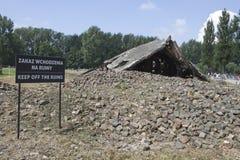 Auschwitz-Konzentrationslager war ein Netz der Konzentration und Ausrottunglager bauten auf und funktionierten durch das Drittes  stockbilder