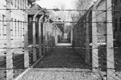 Auschwitz-Konzentrationslager war ein Netz der Konzentration und Ausrottunglager bauten auf und funktionierten durch das Drittes  Stockfotografie