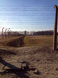 Auschwitz-Konzentrationslager war ein Netz der Konzentration und Ausrottunglager bauten auf und funktionierten durch das Drittes  Lizenzfreie Stockbilder