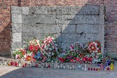 Auschwitz-Konzentrationslager war ein Netz der Konzentration und Ausrottunglager bauten auf und funktionierten durch das Drittes  Lizenzfreies Stockfoto