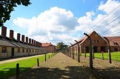 Auschwitz-Konzentrationslager war ein Netz der Konzentration und Ausrottunglager bauten auf und funktionierten durch das Drittes  Lizenzfreie Stockfotos