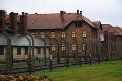 auschwitz lägerkoncentration royaltyfria bilder