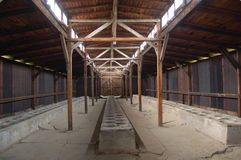 Auschwitz - latrines Stock Afbeelding