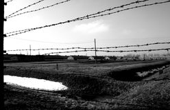 Auschwitz memorial. Auschwitz taken in black and white colors Stock Images