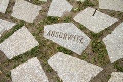 Auschwitz memorial nazism victims Stock Photo