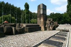 Auschwitz memorial site Stock Photos