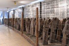 Auschwitz mim - fotos do prisioneiro de Birkenau foto de stock royalty free