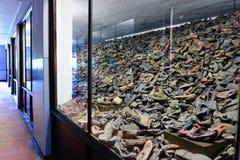 Auschwitz mim - sapatas de Birkenau imagens de stock