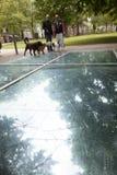 Auschwitz monument in amsterdam wertheim park Royalty Free Stock Photos