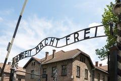 Auschwitz-Museum Lizenzfreie Stockbilder