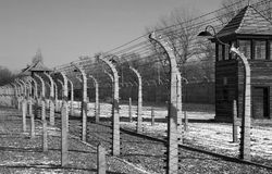Auschwitz Nazi Concentration Camp - Poland. Auschwitz concentration camp, where up to three million people were murdered by the Nazis (2.5 million gassed, and stock photos