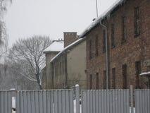 Auschwitz più desolato nell'inverno fotografia stock libera da diritti