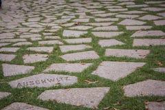 Auschwitz - plus que juste un nom photos libres de droits