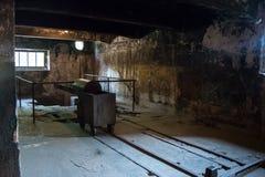 AUSCHWITZ, POLÔNIA - EM JULHO DE 2017: Crematório no acampamento I de Auschwitz fotos de stock royalty free