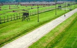 Auschwitz, Poland: Campo de concentração de Birkenau Fotografia de Stock Royalty Free