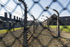 Auschwitz. POLAND - OCTOBER 25, 2014:  Camp, a former Nazi extermination camp  in Oswiecim, Poland. It was the biggest nazi concentration camp in Europe Stock Photography