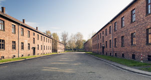 Auschwitz. POLAND - OCTOBER 25, 2014:  Camp, a former Nazi extermination camp  in Oswiecim, Poland. It was the biggest nazi concentration camp in Europe Royalty Free Stock Photos