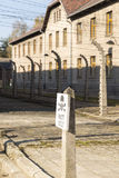 Auschwitz. POLAND - OCTOBER 25, 2014:  Camp, a former Nazi extermination camp  in Oswiecim, Poland. It was the biggest nazi concentration camp in Europe Stock Image