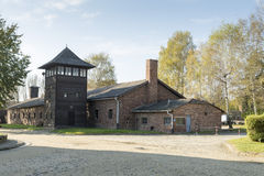 Auschwitz. POLAND - OCTOBER 25, 2014:  Camp, a former Nazi extermination camp  in Oswiecim, Poland. It was the biggest nazi concentration camp in Europe Stock Photo