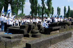 Auschwitz, Poland: Prayer Service Royalty Free Stock Photography